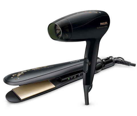 Philips HP8646/10 The KeraShine Hair Straightener and Dryer combo for Women - GottaGo.in