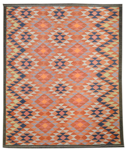 "Turkish Kilim Rug > Design # 1868 > 8' - 3"" x 10' - 0"""