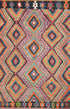 "Old Turkish Kilim Rug - K > Design # 1615 > 7'-7"" X 8'-2"""