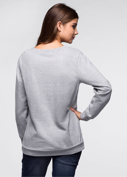"Chat J'adore Sweat Noir / S Pull Femme ""Chat Classe"""