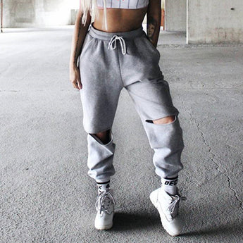 Loose Ripped Sweatpants