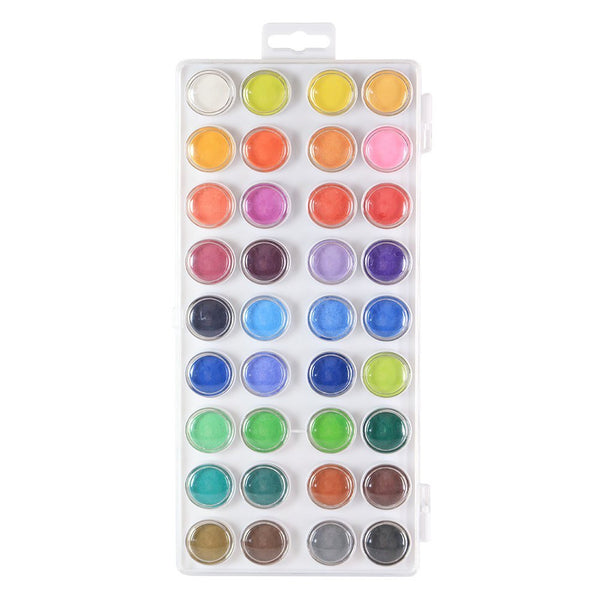 Watercolor and acrylic Artist set 36 Colors Includes 12 Quality Brushes (6 Flat 6 Round)