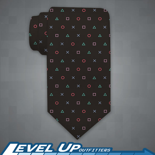 Playstation Button Logo Inspired Necktie