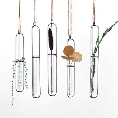 Hanging Test Tube With Jute Hanger