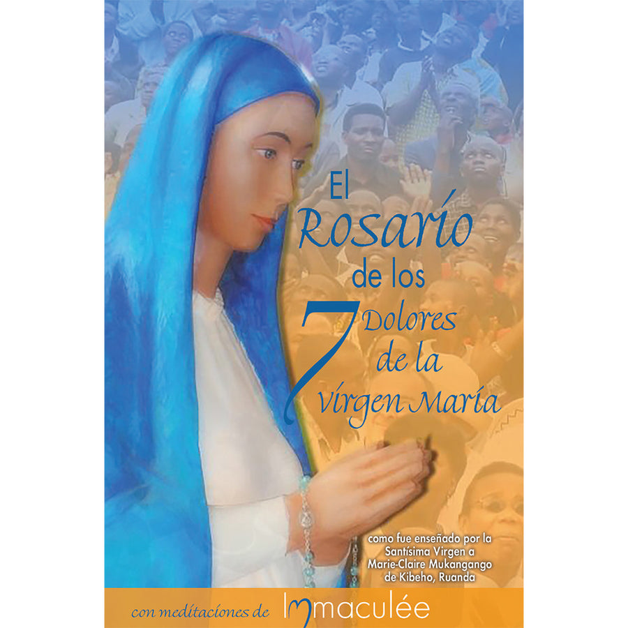 In Spanish 10 Libro de Bolsillo de El Rosario de los 7 Dolores (Seven Sorrows Rosary) Booklet with Immaculee
