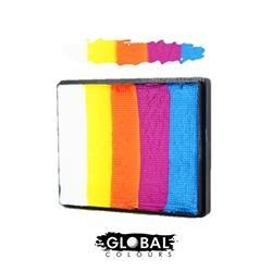 Global Colours Rainbow Cake Maui-50g, Face Paint, Global Colours, T. Myers Magic Inc. - T. Myers Magic Inc.