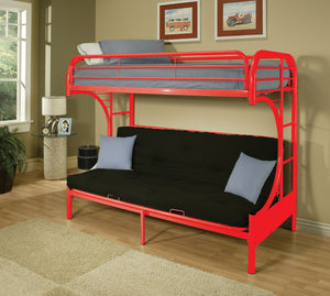 ACME Eclipse Twin/Full/Futon Bunk Bed Red - 02091W-RD-Bunk Beds-HipBeds.com