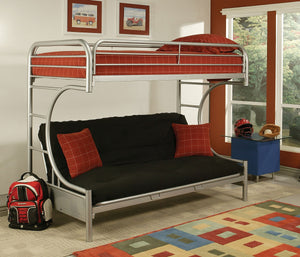ACME Eclipse Twin XL/Queen/Futon Bunk Bed Silver - 02093SI-Bunk Beds-HipBeds.com