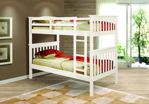 Donco Kids T/T Misson Bunk Bed White 120-3W-Bunk Beds-HipBeds.com
