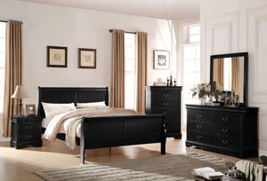 ACME Louis Philippe Full Bed Black - 23737F-Panel Beds-HipBeds.com