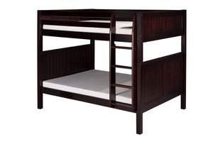 Camaflexi Full over Full Bunk Bed - Panel Headboard - Cappuccino Finish - C1622_CP-Bunk Beds-HipBeds.com
