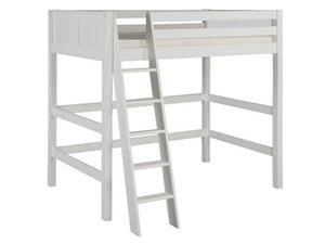 Camaflexi High Loft Bed - Panel Headboard - White Finish - C623_WH-Loft Beds-HipBeds.com