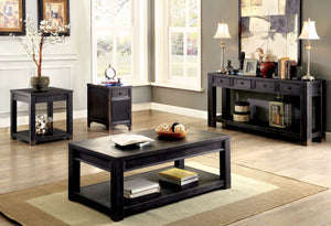 Furniture Of America Syra 4 Drawer Sofa Table Antique Black-Tables-HipBeds.com