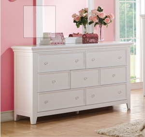 ACME Lacey White 7 Drawer Dresser - 30601-Dressers-HipBeds.com