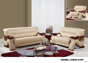 Global Furniture Loveseat Cappuccino #7004-Sofas-HipBeds.com