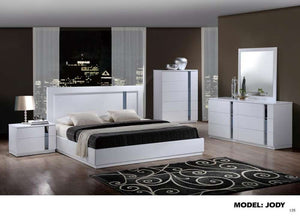 Global Furniture Queen Bed White Hg-Beds-HipBeds.com