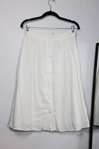 Zara white A-line skirt