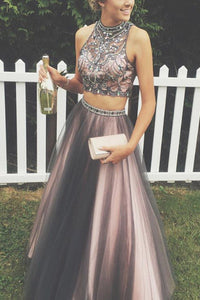 A-line Prom Dresses,Two Pieces Prom Dress,Gorgeous Prom Dress,High Quality Prom Dress,Long Prom Dress,PD0081