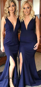 navy blue Bridesmaid Dresses,mermaid elegant Bridesmaid Dress,cheap 2019 Bridesmaid Dresses,PD00225