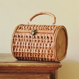 Oval Vime Basket Bag