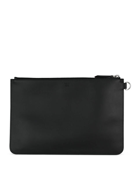 Fendi Men's Giulio Fashion Black Diabolic Eyes Pouch 7N0078A80SF0R2A