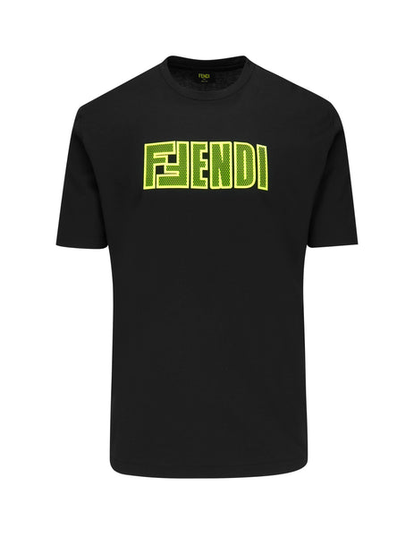 Fendi Men's Black F Fendi Men's T Shirt Faf538A8Jzf17W0