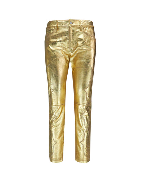 Golden Goose Deluxe Brand Cowboy Leather Trousers G35Wp008P3