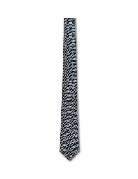 Gucci Men's Geometric GG Silk Tie Black/Grey 5718044E0021062