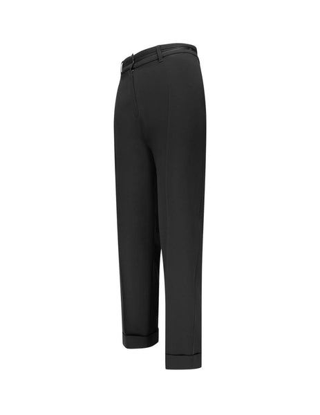 KENZO Women's Giulio Fashion Black Crepe Cuff Trousers F962PA0025AC99