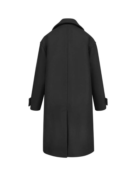 KENZO Women's Giulio Fashion Black Oversized Coat F962MA0245AA99