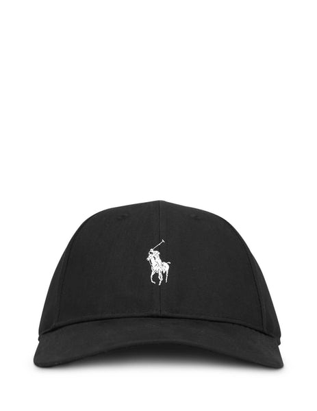 Polo Ralph Lauren Men's Giulio Fashion Black Twill Baseball Cap 710753170001