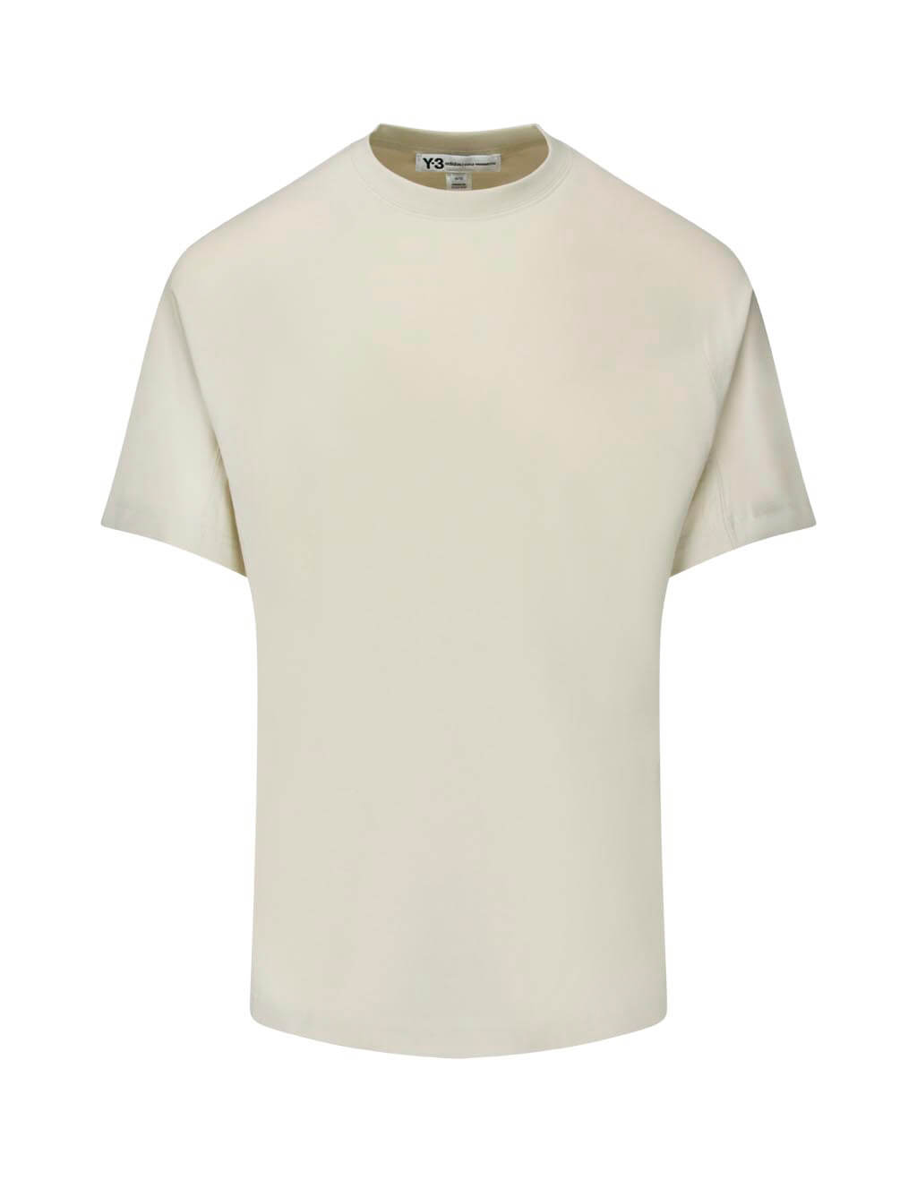 Y-3 Men's Giulio Fashion Ecru Classic Crewneck T-Shirt FJ0366
