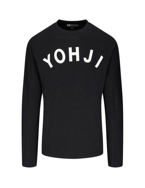 Y-3 Men's Giulio Fashion Black Yohji Letters Top FJ0325