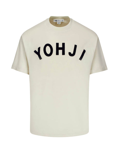 Y-3 Men's Giulio Fashion Ecru Yohji Tee FJ0328