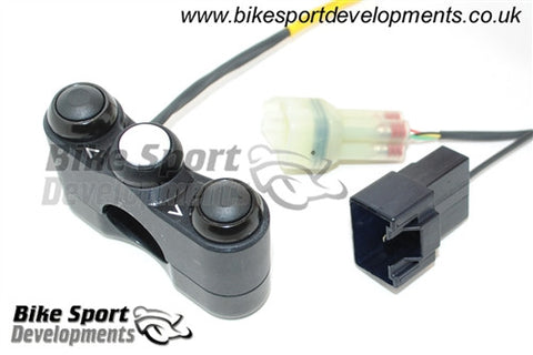 Kawasaki ZX-10R 2016> Race/Track Bike Handlebar Switch Assembly - 3 Button Left Side Switch Up / Select / Down
