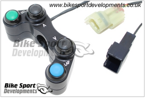 Kawasaki ZX10-2016 , 4 Button Left Side Switch – Select , Up , Down , Lap
