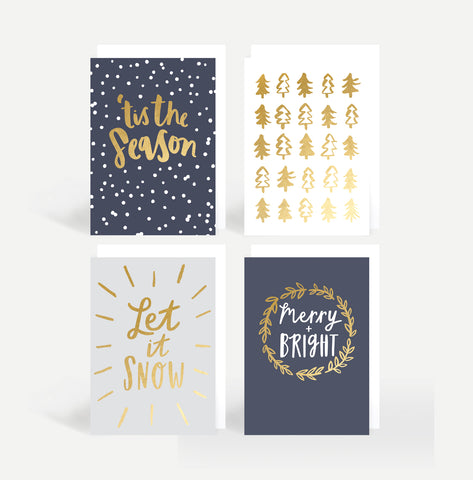 'Tis The Season' Christmas Card Pack Of Eight