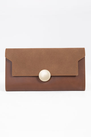Tan Soft Clutch