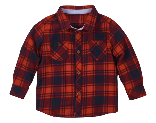 Levi Checkered Flannel - Playground Couture