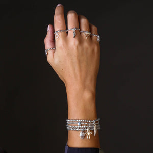 Angel By My Side 3mm Bead Stretch Bracelet - globalsoul
