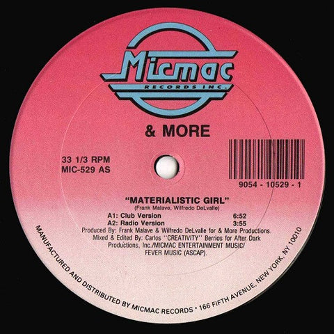 & More - Materialistic Girl