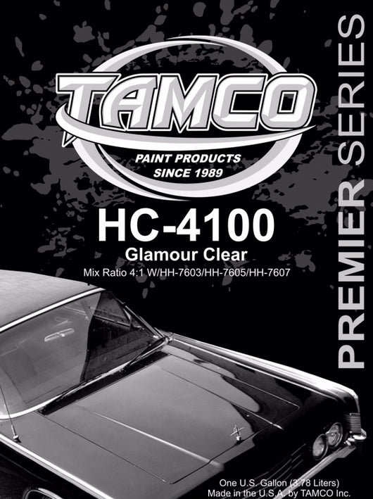 Glamour 4:1 Clearcoat - 1 Gallon Kit HC-4100