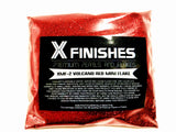 X Finishes Volcano Red Mini Flake 85g/3oz Pack