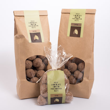 Chocolate Coated Macadamia Nuts - Milk