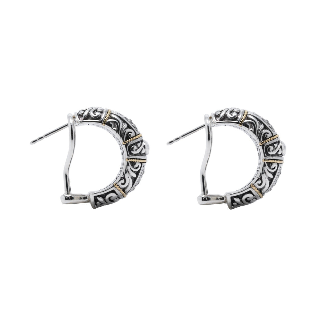 Effy Two-Tone Diamond Hoop Earrings Earrings EFFY
