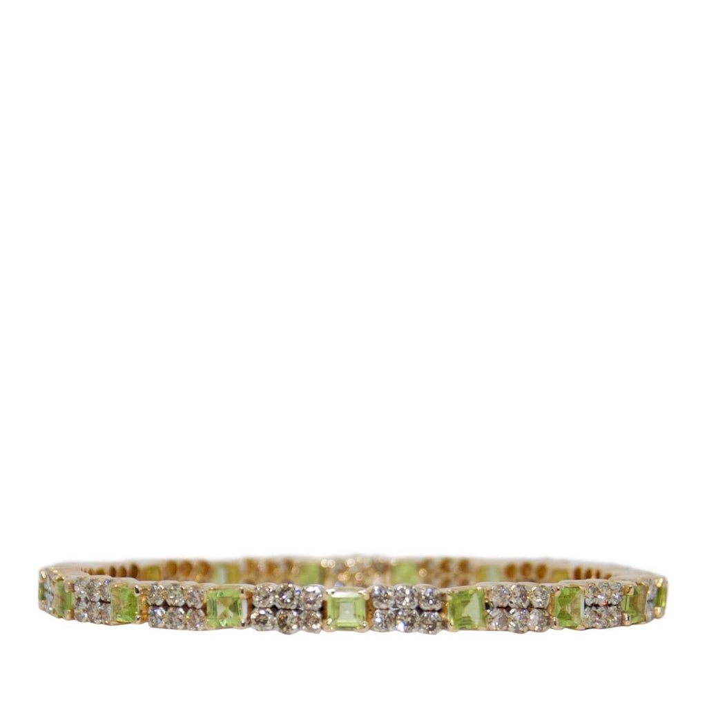 Peridot & Diamond Bangle Bracelet Bracelets Miscellaneous