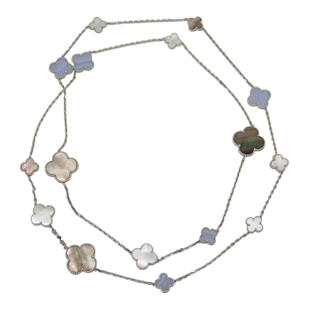 Van Cleef & Arpels Magic Alhambra 16 Motifs Long Necklace Necklaces Van Cleef & Arpels