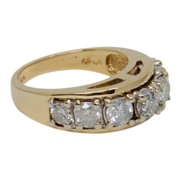 Single Row Diamond Band Ring Rings Miscellaneous