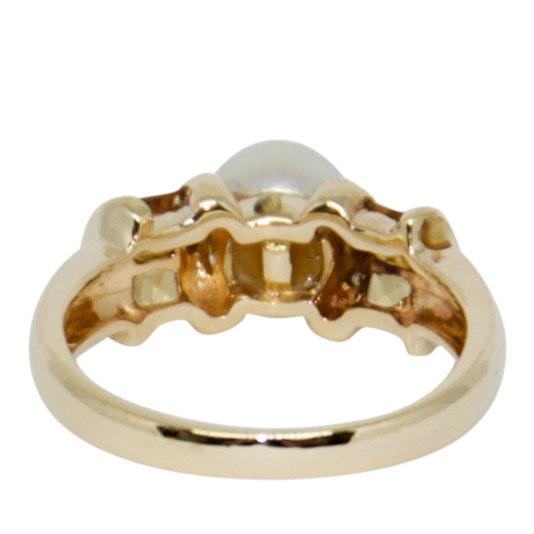 Pearl, Citrine, and Diamond Ring Rings Miscellaneous