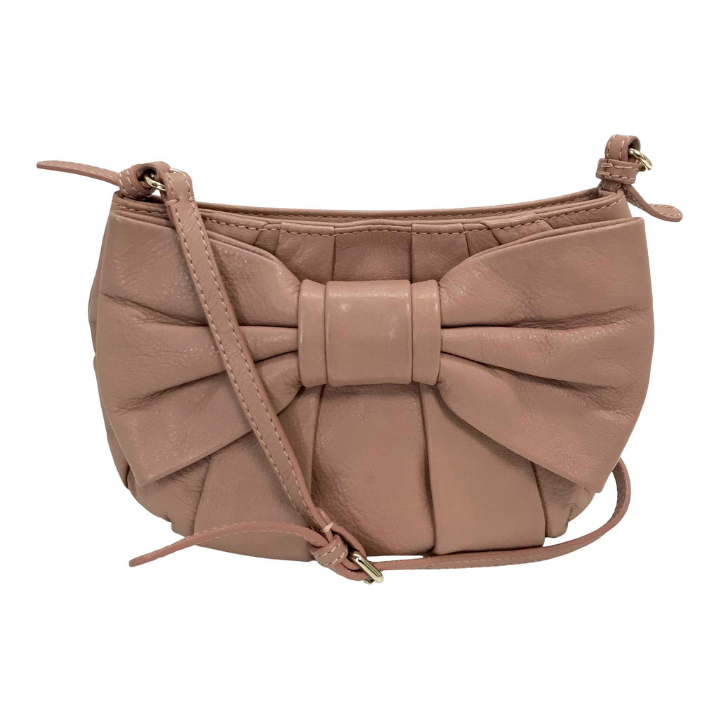 Red Valentino Leather Bow-Accented Crossbody Bag Bags Valentino